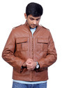 Brown Pure Men Leather Jackets