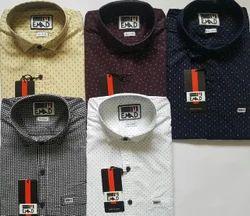 Men Cotton Plain Casual Wear Slim Fit Shirt