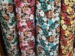 Regular Wear Digital Printed Digital Cotton Print Dress Material, GSM: 100-150