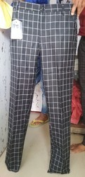 White And Black Check Pant