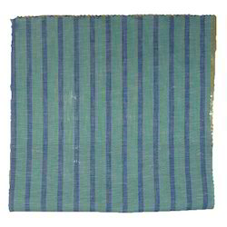 Green and Blue Striped Fabric