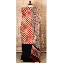 Block Printed Dress Material