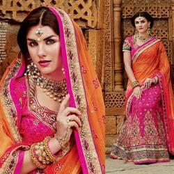 Bridal Net Kundan Work Sarees