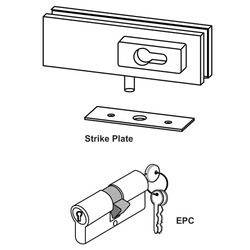 DORMA Corner Lock Patch with EPC and Strike Plate