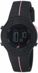 Fastrack Silicon Digital Watch Black