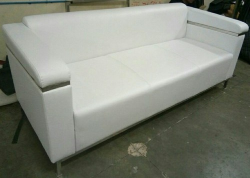 Sensational White Mild Steel Three Seater Sofa Lisa India Enterprises Machost Co Dining Chair Design Ideas Machostcouk