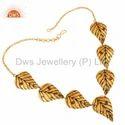 Designer Sterling Silver Leaf Necklace Jewelry