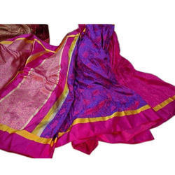 Pure Satin Silk Zardozi Work Saree