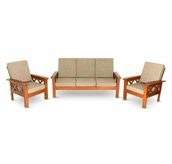 Modular Wooden Sofa Set