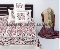 Silk Embroidery Bed Cover