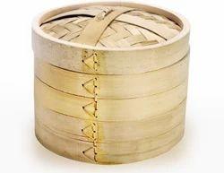 Standard Design Natural Bamboo Momo Basket, Size/Dimension: 8
