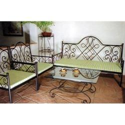 Wooden Iron Sofa Set