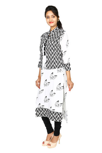 Rayon Designer Kurti With Jacket Ac 222 At Rs 775 Piece Rayon