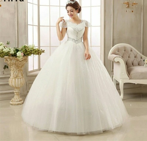 6e0c65834c1 White Ivory Christian Collar White Wedding Gown