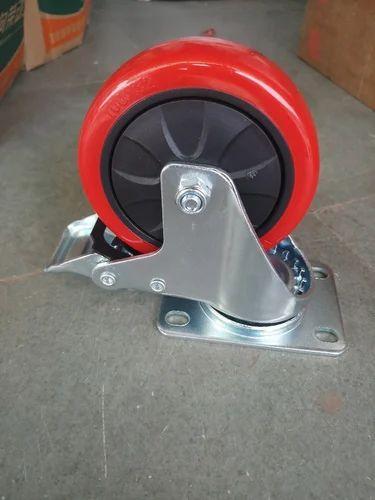 Trolley Wheel Pu 100x32 Break Type