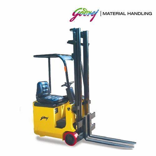 Electric Forklift Godrej 0 8 To 1 2 Ton Three Wheel