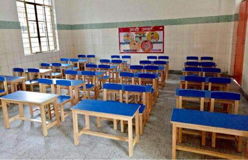 wooden classroom furniture