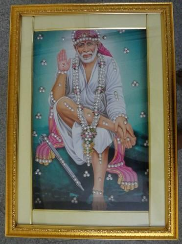 Led Light Frame Sai Baba 05 14x20 Inch Photo Frame At Rs 500 Piece