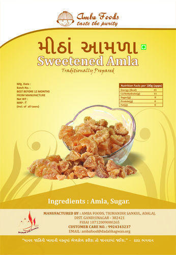 Amba Foods Amla Candy 70gram And 200gram Rs 300 Kilogram Id