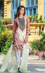 Embroidered Pure Chiffon Dupatta Suits