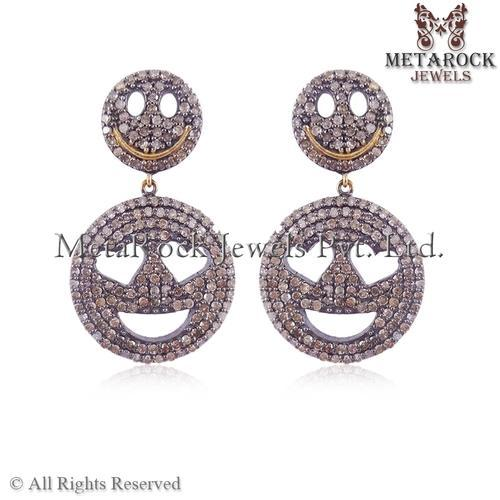 METAROCK Jewels Women Pave Diamond Earring Jewelry