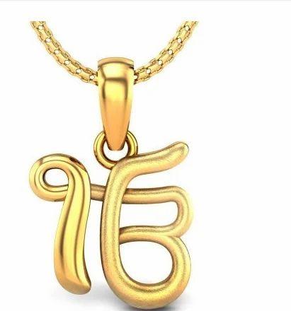 Ek onkar gold pendant at rs 10160 pieces gold pendant id ek onkar gold pendant aloadofball Choice Image