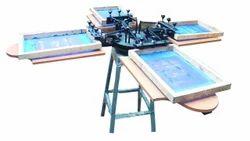 Manual 4 Colour Screen Printing Machine