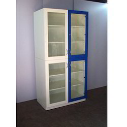 Laboratory Cupboard with Blue Door