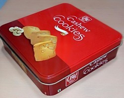 Cashew Cookies Tin Box