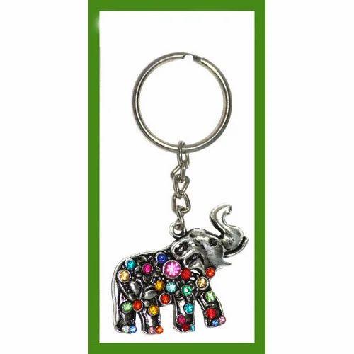 dbe5bef3be2a0b Decorative   Souvenir Keychains - Gemstone Elephant Keychain ...