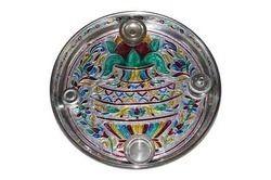 Pooja Dish - Aluminum Half Meena