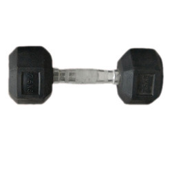 Techpolar Rubber Hexagonal Dumbbell