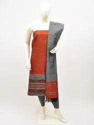 Dhaman Silver Zari Dress Suit Material