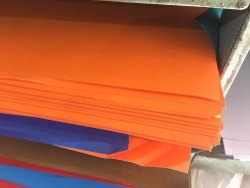 Orange Craft Paper