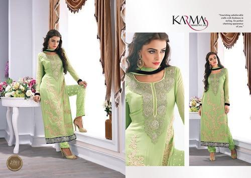 183a705c4d Nourishing Pista Green Georgette Straight Suit, Georgette Salwar ...