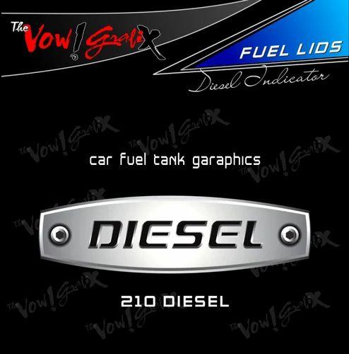 Fuel tank decal sticker diesel