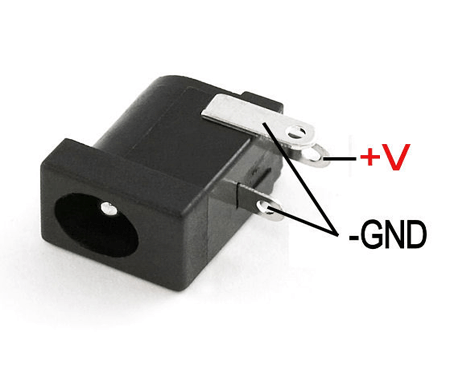 Dc power supply female connector
