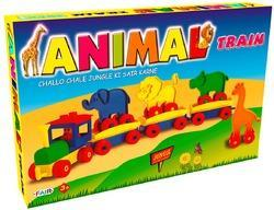 animal train set educational building blocks