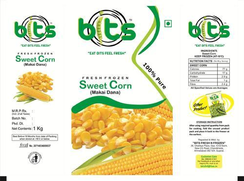 Frozen Sweet Corn Packaging Pouch