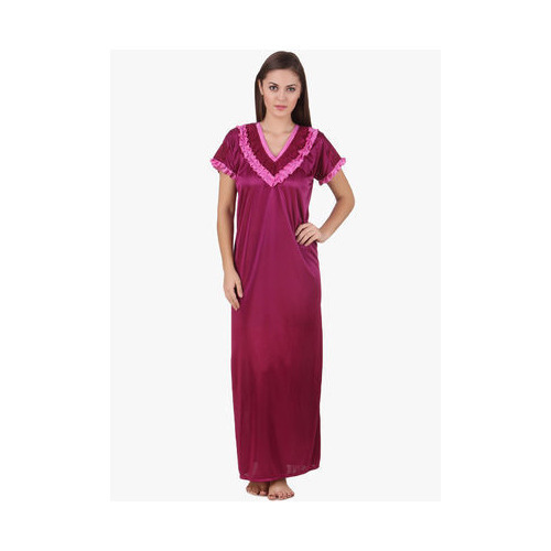 4d94f80c66 Free Size Pink Long Satin Nighty