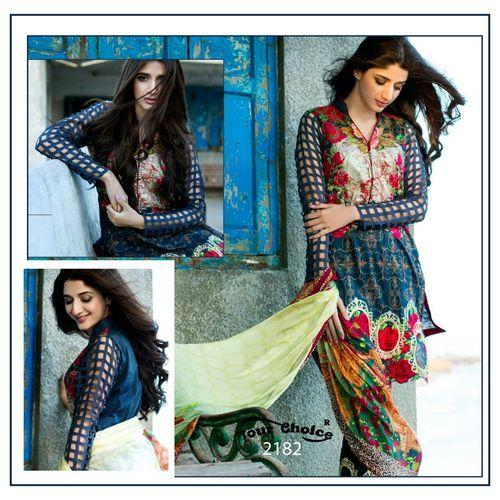 95247fcabf Dress Material Printed - Zoya Glace Cotton With Work Salwar Kameez_ADMF  Manufacturer from Surat