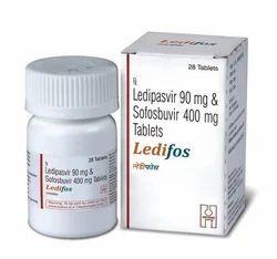 Ledifos Ledipasvir & Sofosbuvir Tablets, Packaging Size: 28 Tablets