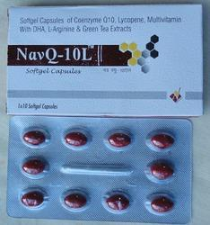 Weight Gainer Coenzyme Q10 with Lycopene & DHA, 10x1x10 , packaging Type: Strip