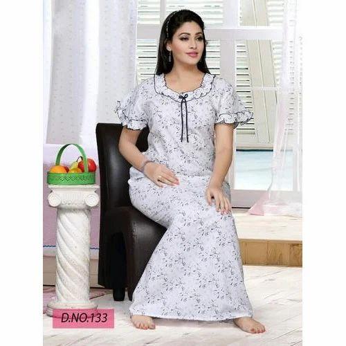 Ladies Night Gown, Designer Ladies Night Gown - Navkar Exim, Mumbai ...