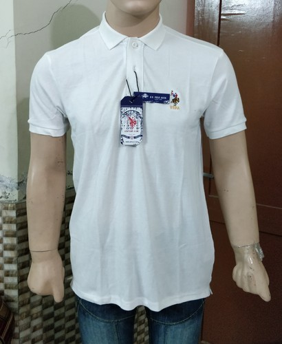 White Cotton Linen U S Polo Assn T Shirt Rs 199 Piece Id