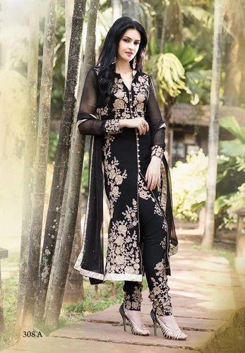 7ddad60408 Fancy Georgette Salwar Suit, Georgette Salwar Suits - F Bazaar ...