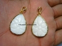 White Agate Carving Electroplated Pendant