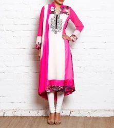 Designer Embroidery Long Kurti Suit