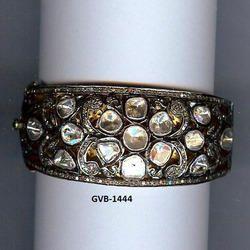 925 Sterling Silver Double Cut Diamond Bangle/Bracelet