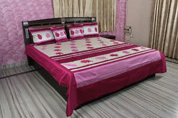 Block Print Silk Double Bed Sheet